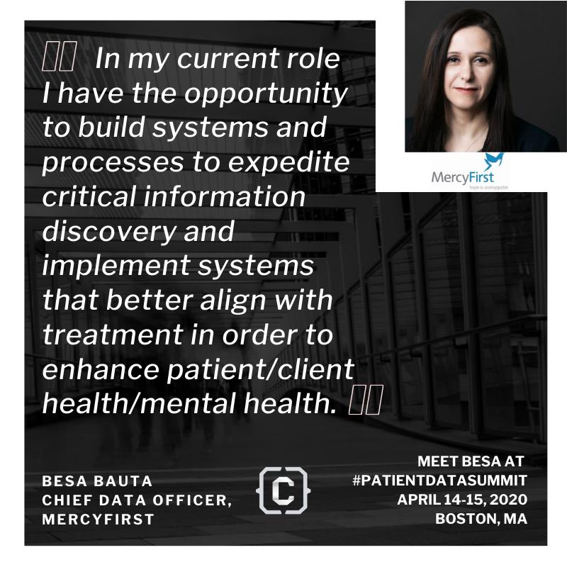 Patient Data Summit - MercyFirst